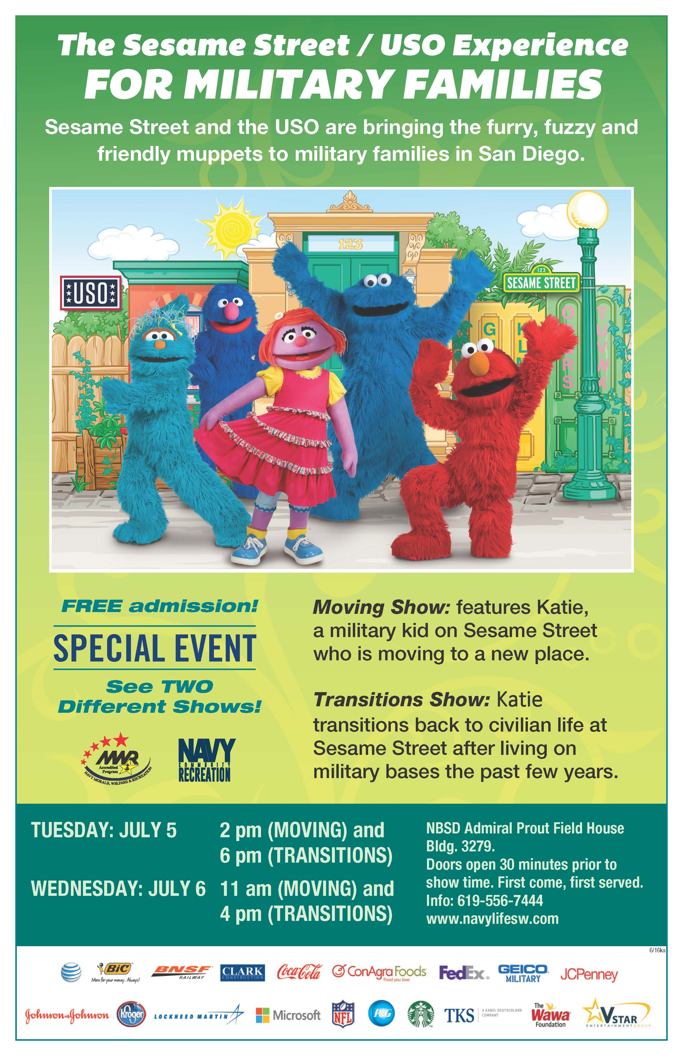 The Sesame Street And The Uso Experience Show Moving Sdmfc